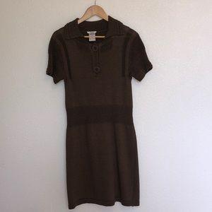 Vintage Chloe Brown Linen/Wool Dress T L